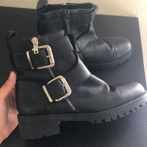 Zara Black Biker Style Boot